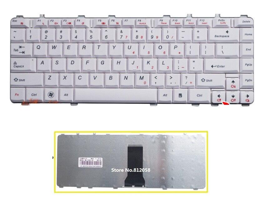 Laptop Keyboard for Lenovo Y450 Y460 Y550 B460 V460 Canada CA 25008286 White