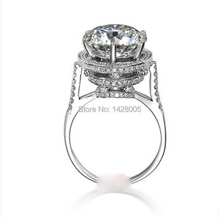 aliexpresscom buy free shipping surprise super 5carat5ct nscd simulated diamond engagement ringsluxury huge big wedding ring for women rwd041 from - Huge Wedding Ring