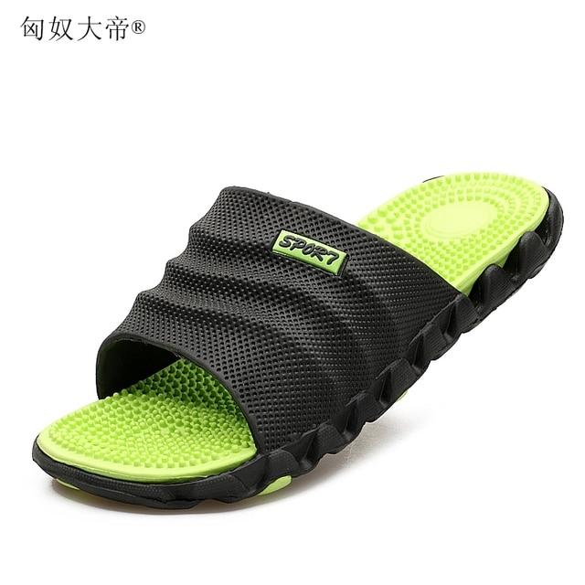 2018 Nova Verão Fresco Água Massagem Praia Chinelos Flip Flops Homens Macio de Alta qualidade, o Homem Da Moda Sapatos Casuais