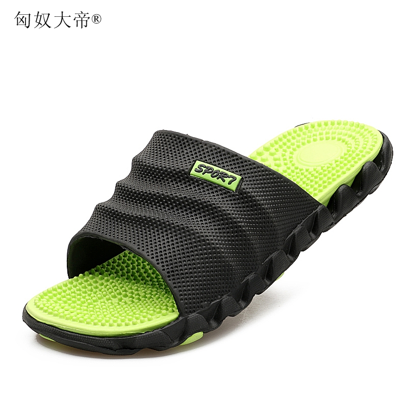 2019 New Summer Cool Water Flip Flops Men High Quality Soft Massage Beach Slippers,Fashion Man Casual Shoes