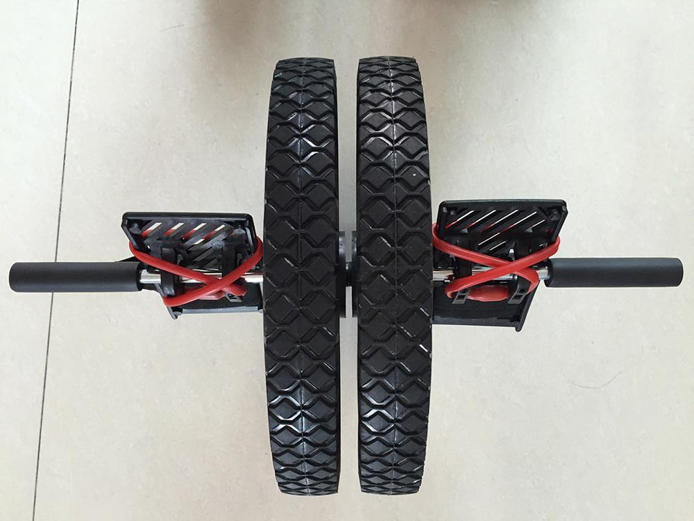 (Rueda doble) rueda de potencia de actualización multifuncional núcleo ejercicio doble rueda de músculo Abdominal rueda de energía - 4