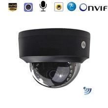 Câmera de vigilância sem fio preta, cartão sd, wifi, 1080p sony307 720p com filtro de corte ir onvif alarme de detecção de movimento