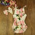 0-3 años de Moda de impresión Bebé Mamelucos Del Bebé Embroma la ropa Del Mono Del Algodón Del Mameluco recién nacido de Fotos de Limón amarillo del bebé ropa