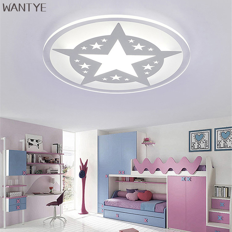 Round LED Ceiling Light White Modern Acrylic Ceiling Lamp Dimmable with Remote Control for Kids Bedroom Lighting Fixtures round led ceiling light white modern acrylic ceiling lamp dimmable with remote control for kids bedroom lighting fixtures