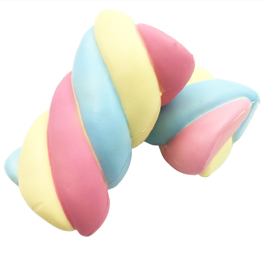 Kawaii Jumbo Rainbow Marshmallow Soft Cotton Candy Squishy Toys Soft Slow Rising For Children Gifts Anti Stress Anxiety Toys