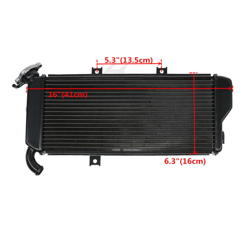 Motorcycle Aluminum Engine Cooler Radiator For Kawasaki Ninja EX650 2012-2016 15  ABS 2012-16 EX 650 aluminum motorcycle cooler radiator for kawasaki 2004 2005 ninja zx10r china motorcycle parts and accessories