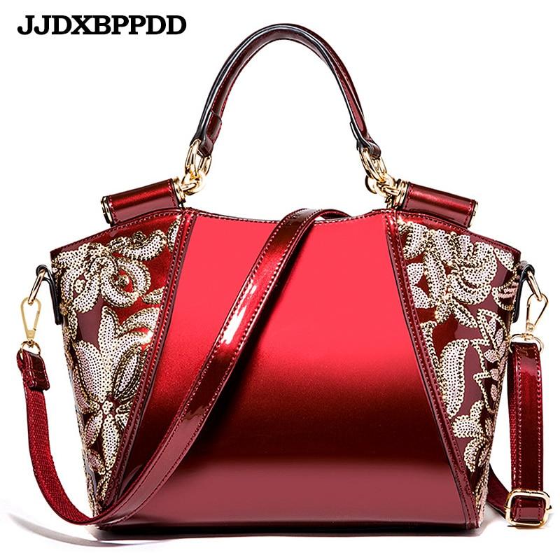 JJDXBPPDD Women Bags Shoulder Handbags Large Capacity Women s Handbags Shoulder Messenger bags Floral Luxury Patent