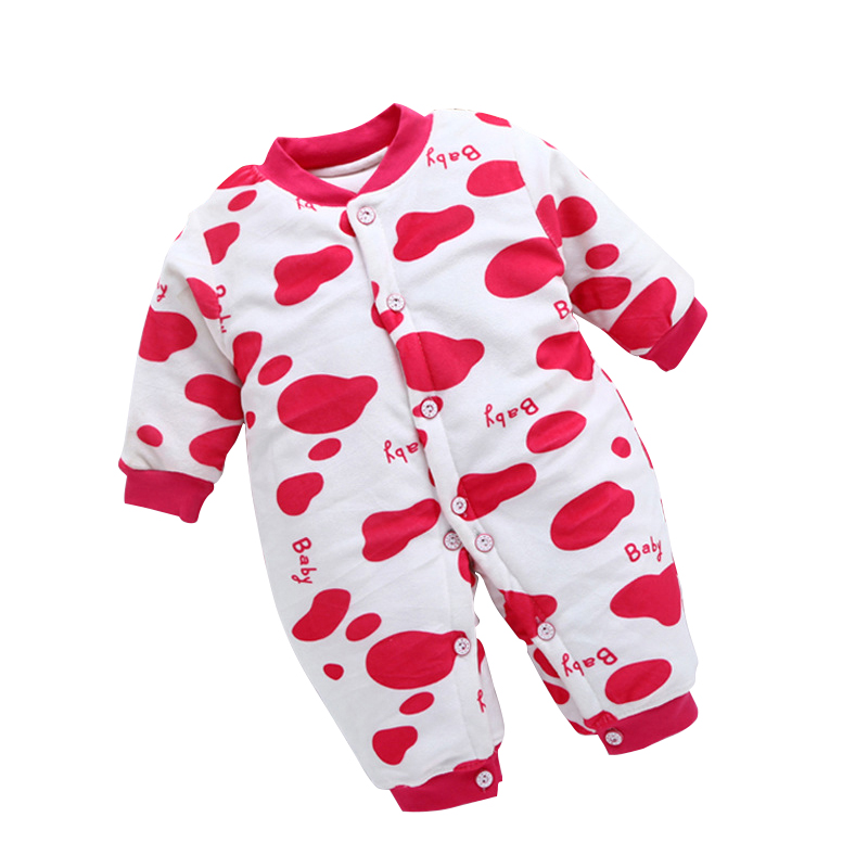 Newbron Baby Rompers Long Sleeve Cotton Baby Clothes Suit Milk Cow Baby Girl Boy Comfortable Rompers Clothing For Neonatal