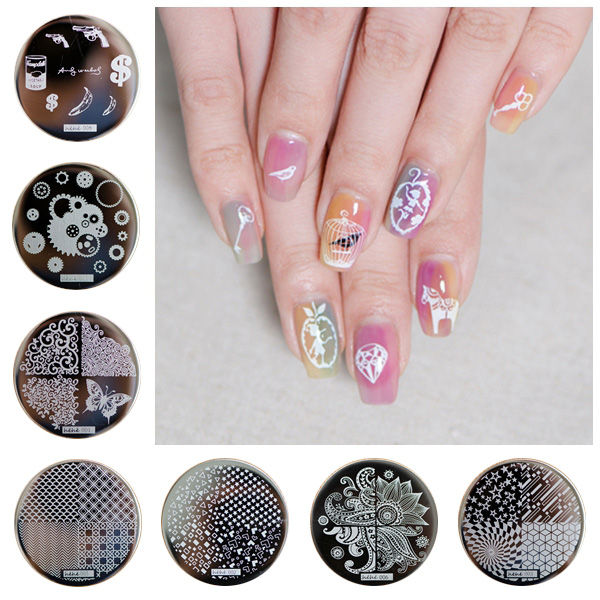 Купить с кэшбэком on sale  1lot by 1pcs  2016new style   1pc Hing Quality  Stainless Steel  Image hehe 003  Nail Art Stamp stampping