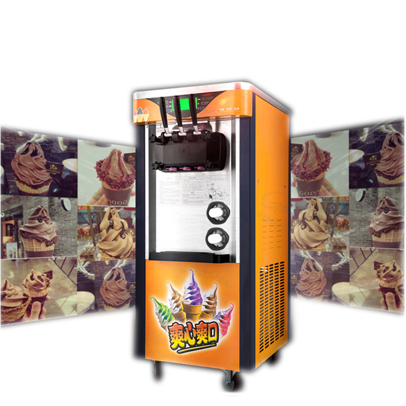 commercial desktop soft ice cream machine 2100W three-color vertical make ice cream intelligent sweetener ice cream maker 1pc цена