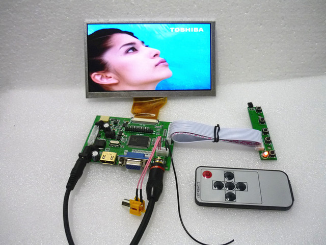 HDMI + 2 av + VGA panel sterowników LCD + 6.5 calowy panel LCD AT065TN14 800*480 + klawiatura OSD. Pokładowe zestawy DYI