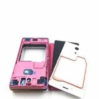 RTBESTOYZ Suporte da Moldura Oriente Quadro Moldura Do Painel Frontal Do Painel de Habitação Para Sony Xperia ZR M36H C5502 C5503 Preto Branco Rosa Estojos de celular    -