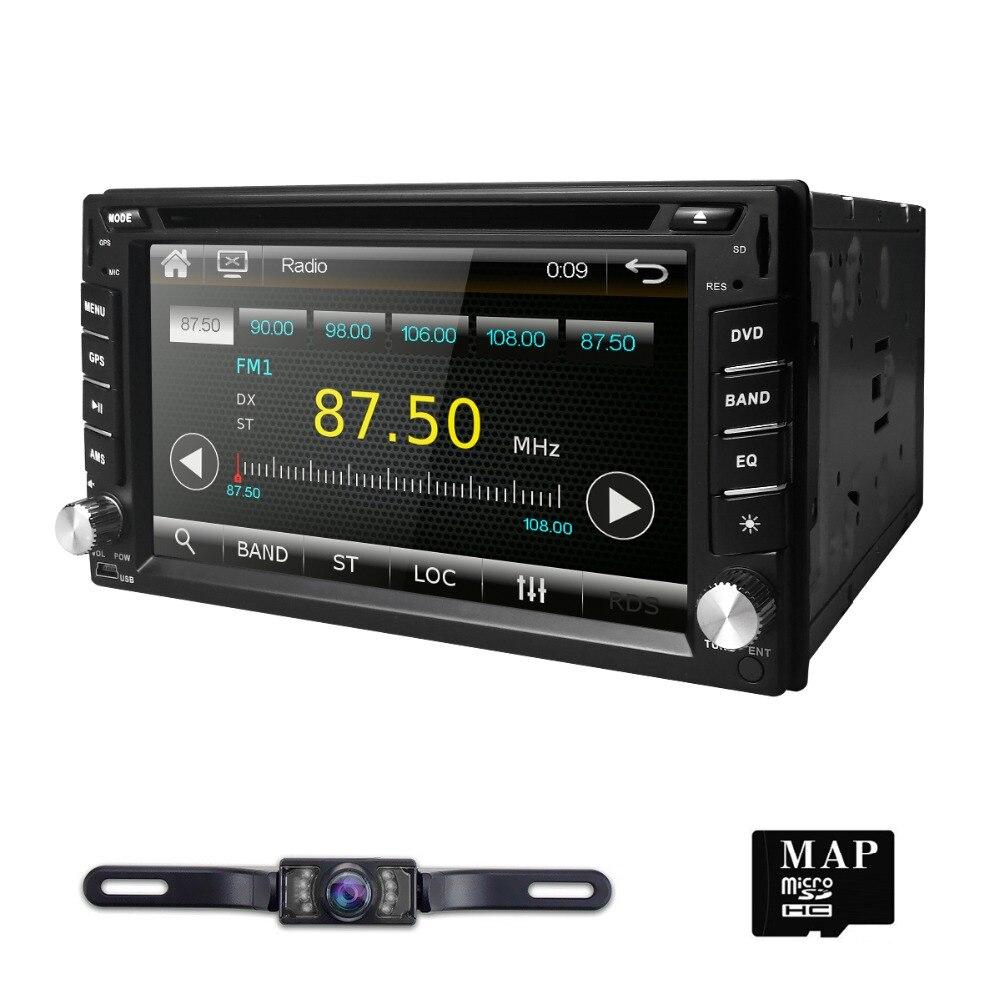 Новинка! Универсальный 2Din в тире dvd-плеер автомобиля gps стерео радио сенсорный экран BT USB Mirrorlink RDS 1080 P + бесплатная карта + бесплатная камеры