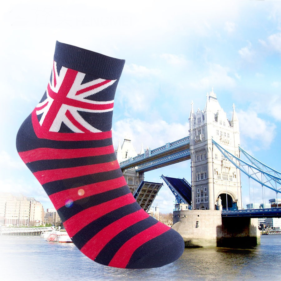 Free Shipping combed cotton brand men socks colorful dress socks 5pairs/lot Mans high qualtiy men sox big size British style