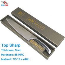 """FINDKING New top grade sharp kitchen knife 440c quality 8"""" inch Frozen meat cutter Chef knife"""