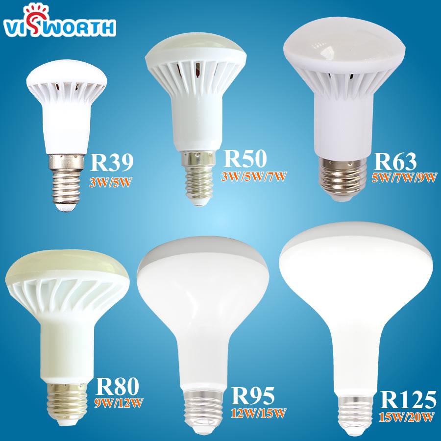 R39 R50 R63 R80 LED Light E14 E27 LED Lamp 3W 5W 7W 9W ac 220V 230V 12W 15W 20W R80 R95 R125 Led Bulbs Warm Cold White SpotLight mitsubishi 100% mds r v1 80 mds r v1 80