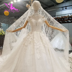 Image 2 - AIJINGYU Shiny Wedding Dresseses Real Photo Modest Bridals Indian Sexy Prijs Big Size Tuin Gown Trouwjurk Accessoires