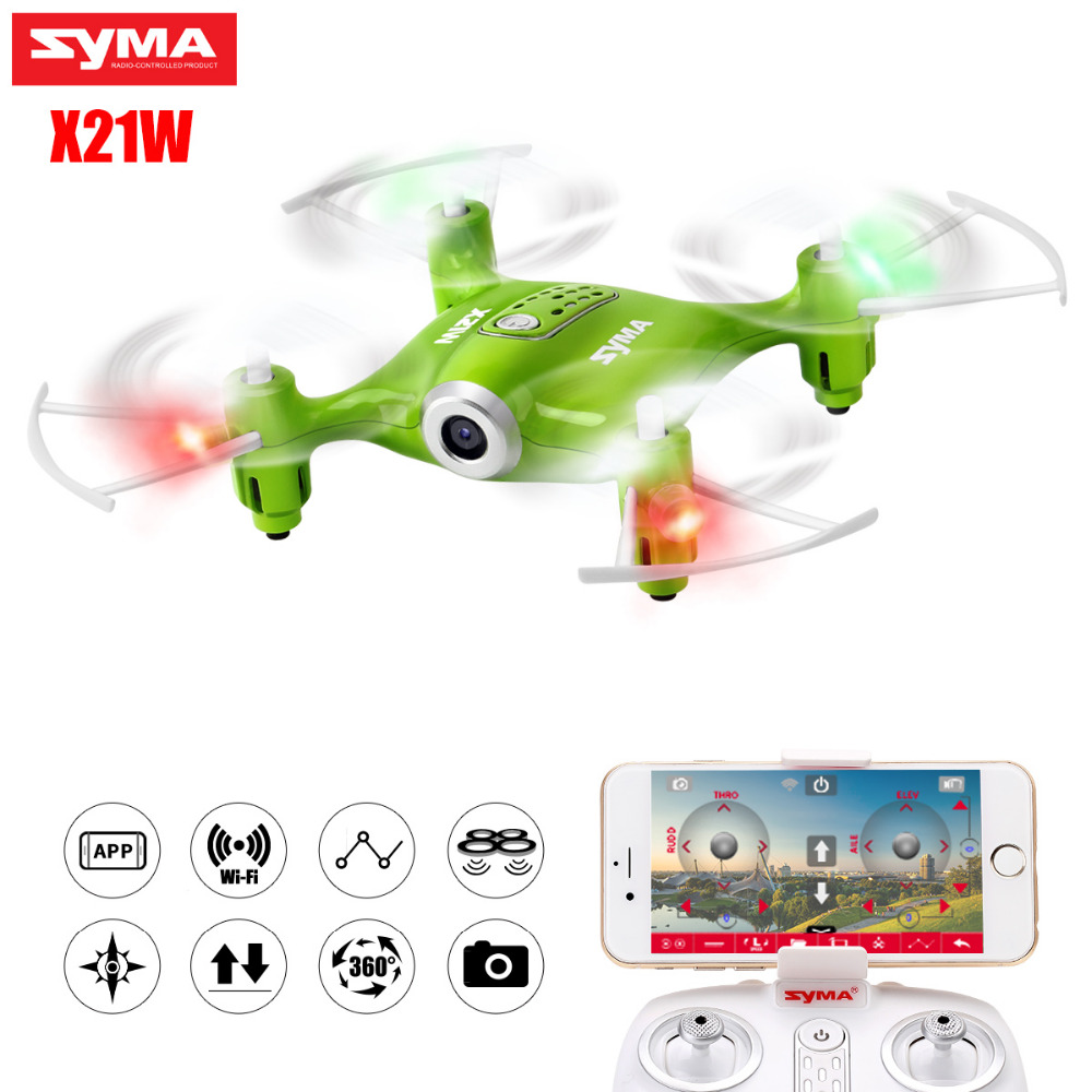 SYMA X21W RC Drone Aircraft FPV Wifi Camera Transmission Helicopter Quadcopter Mini Pocket Drones With Hover Kids Gift yc folding mini rc drone fpv wifi 500w hd camera remote control kids toys quadcopter helicopter aircraft toy kid air plane gift