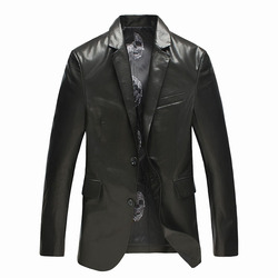 Men s genuine leather jacket real goat skin fashion business casual black leather jacket brand high.jpg 250x250