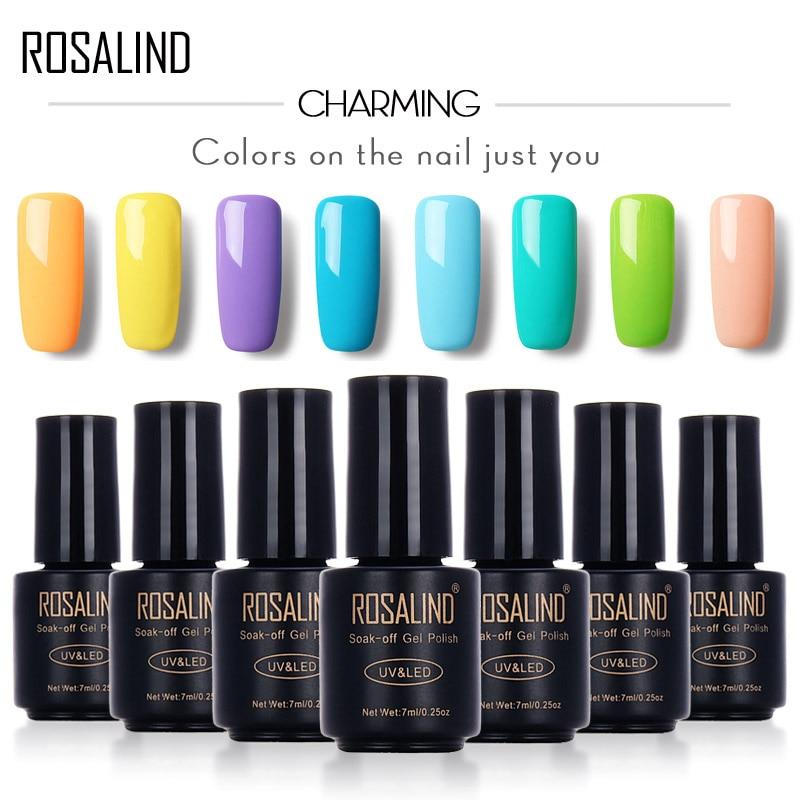Розалинд черная бутылка 7 мл гель Лак чистый цвет 58 цвета 31-58 UV LED гель лак для ногтей потепления DIY ногтей гель лак для ногтей