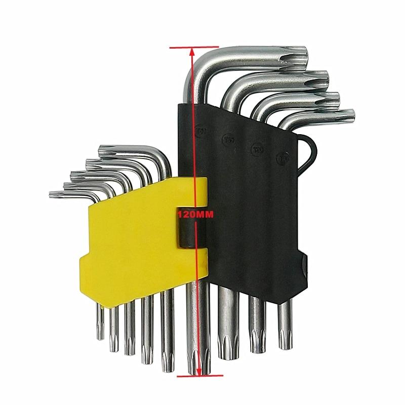 9Pcs/ Set Torque Wrench Torx Socket Hexagon Key T10-T50 Universal Hex Key Wrench Se9Pcs/ Set Torque Wrench Torx Socket Hexagon Key T10-T50 Universal Hex Key Wrench Se