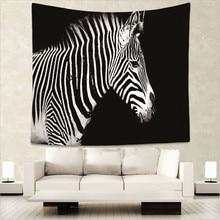 Домашние дикие животные Зебра тигр с принтом гобелен хиппи мандала на стене Богемский покрывало