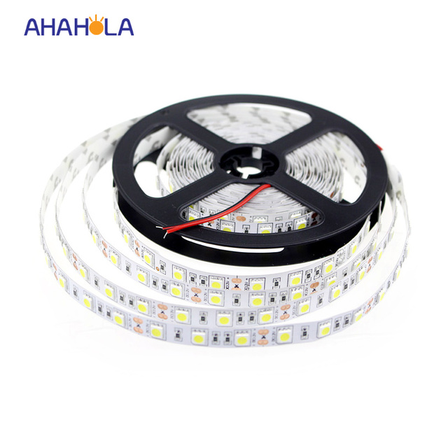 dc 12v white led strip 5050 5m 300 leds flexible tape light warm white rgb red green blue smd led 14.4w/m