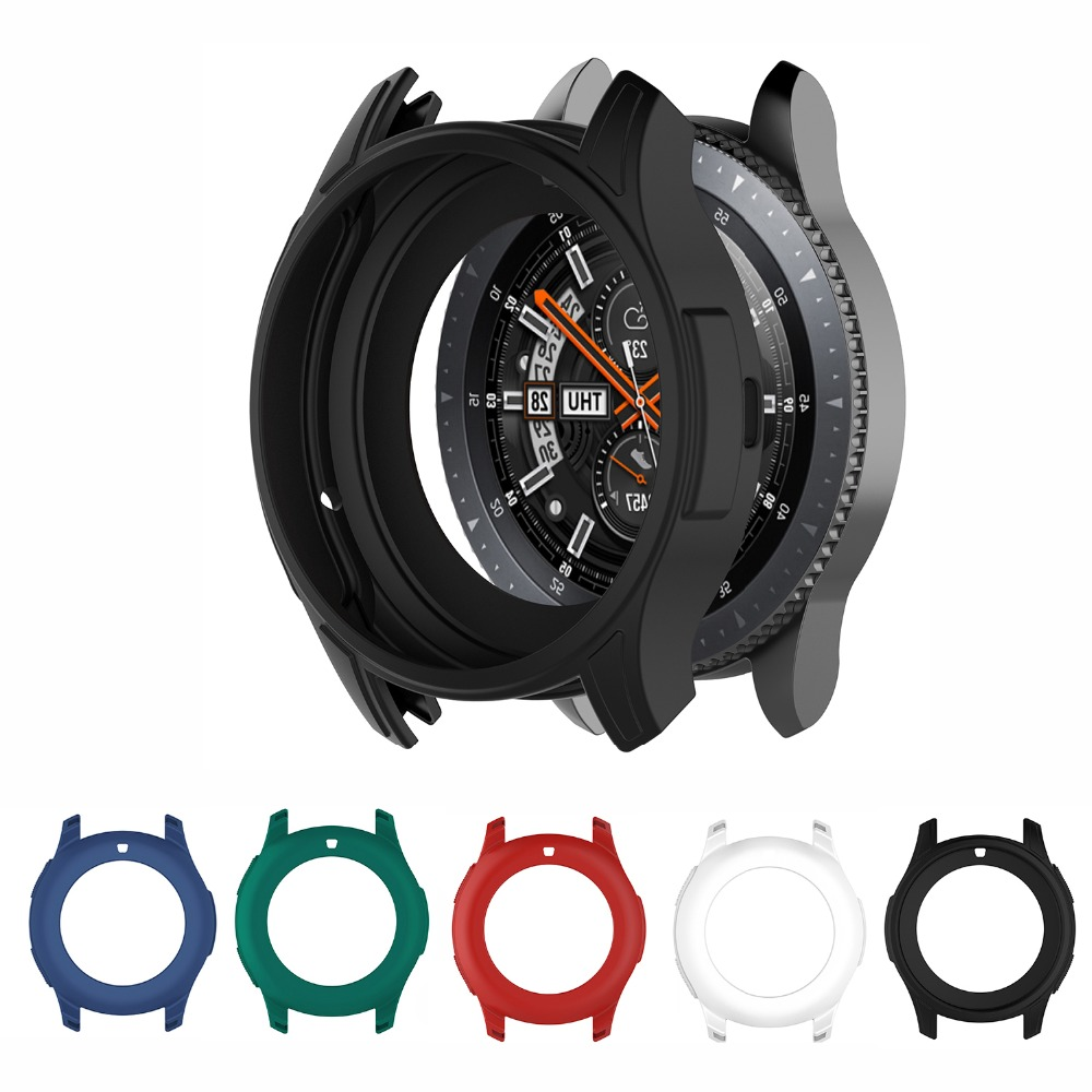 Silicone Protector Case Edge Cover Loop For Gear S3 Frontier &Samsung Galaxy Watch 46mm