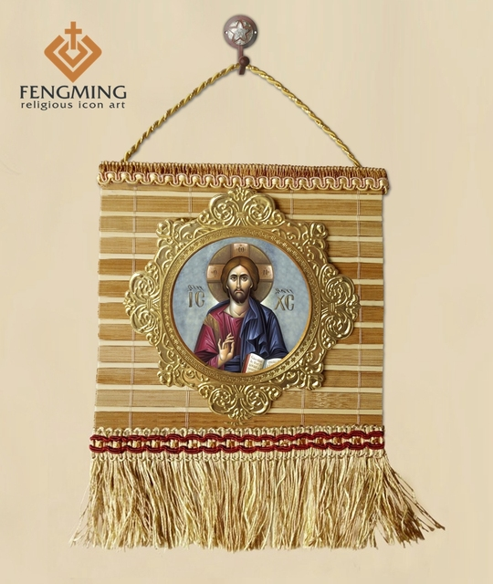 2pcs Set Different Colour Hand Woven Bamboo Crafts Tassel Jesus