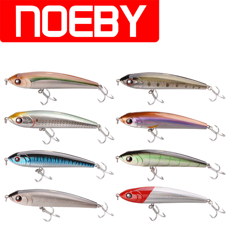 Noeby Pencil Bait 14cm/66g 16cm/97.5g 18cm/145g VMC Hook Sinking 0.8-2.6m Glide Bait Fishing Lure Isca Artificial Para Pesca