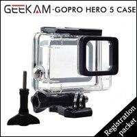 Sport camera Case Wodoodporna Obudowa Nurkowanie 45 M Pole Ochronne Powłoki Akcesoria Go pro Hero 5 Action Camera Sport Cam hurtownie