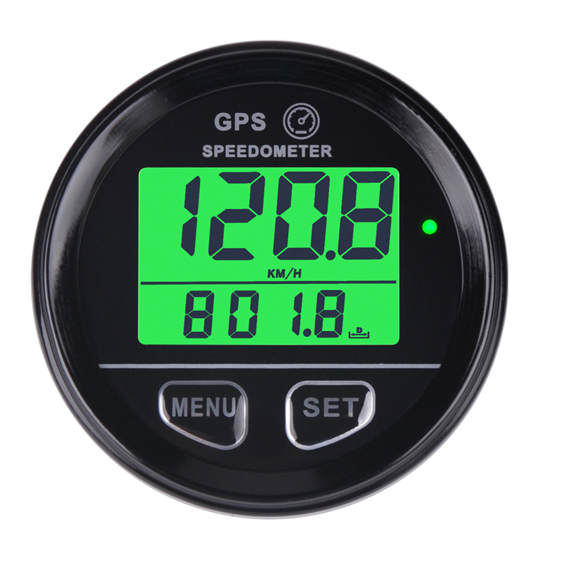 Runleader impermeabil digital GPS Speed ​​Meter Green Backlight SM001 Contor de viteză pentru ATV UTV Motorcycle Automobile de automobile