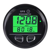 Discount! Runleader Waterproof Digital GPS Speed Meter Green Backlight SM001 Speed Counter For ATV UTV Motorcycle Automobile motor vehicle