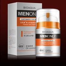 BIOAQUA, уход за кожей, для мужчин, глубокое увлажнение, контроль жирности, крем для лица, увлажняющий, против старения, против морщин, отбеливающий дневной крем, 50 г