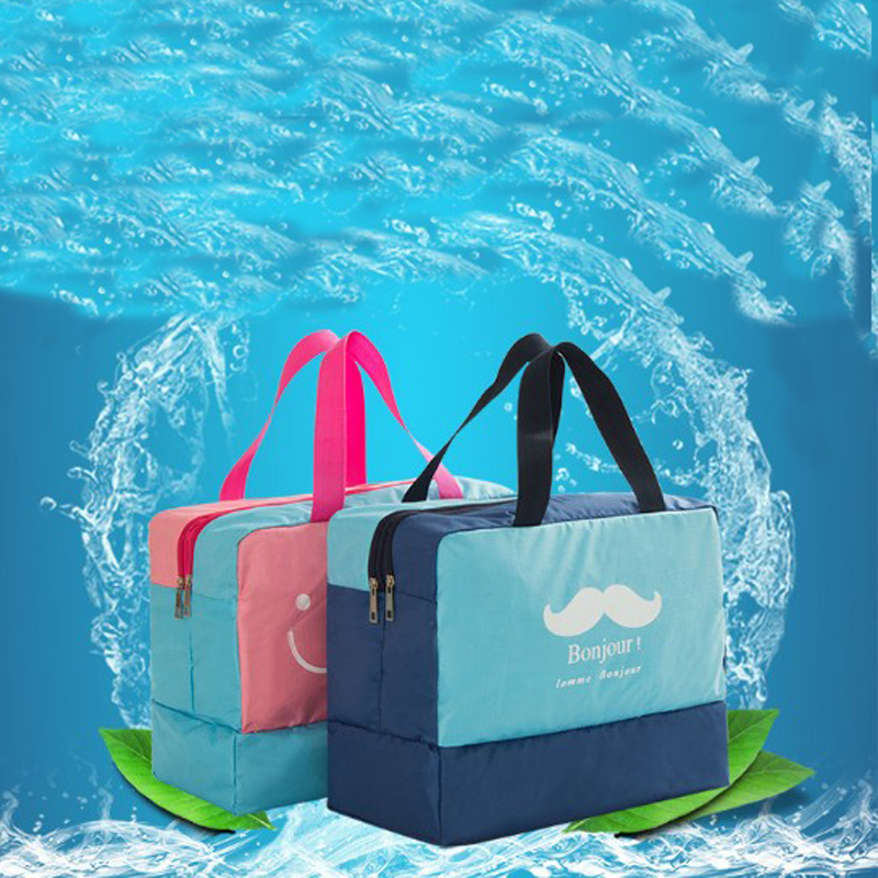 Portable Beach Swim Bag Dry And Wet Sports Pool Bag Swimsuit Sack Storage Travel Gym Yoga Bag Waterproof Pouch Backpack