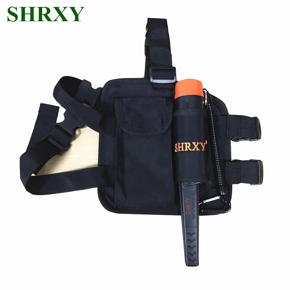 SHRXY Conjunto Ponteiro Detector De Metais TRX Pro Identificar Hand Held Detector De Metal À Prova D' Água com KIT Saco Drop Leg Pouch ProFind