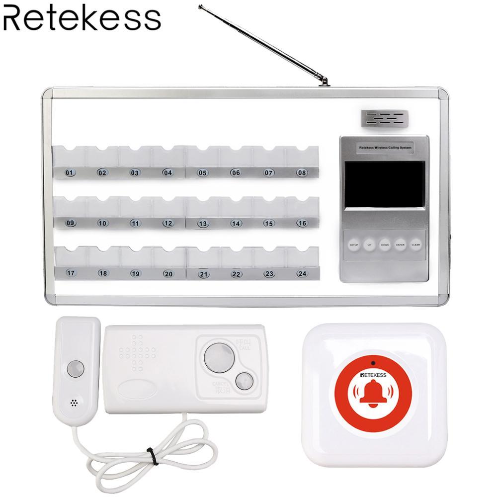 Retekess голос отчетности Беспроводной медсестра вызов Системы с 24 кровать приемник + 2 кнопку вызова для медсестры станции больницы Clinic