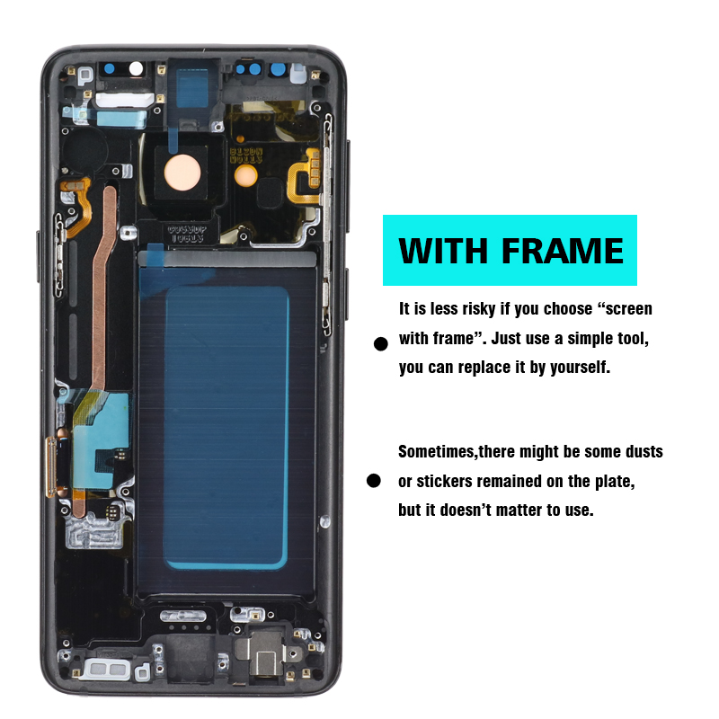 HTB1tQ76dBKw3KVjSZTEq6AuRpXaF 100% ORIGINAL SUPER AMOLED Replacement for SAMSUNG Galaxy S9 LCD Touch Screen Digitizer with Frame S9 G960 LCD+Service package