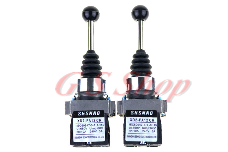 1Pcs XD2PA12CR 2NO 2 Positions Latching Maintained Joystick Switches