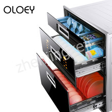 Embedded Disinfection Cabinet Three-tier High Temperature Cupboard Big Space Frequency Conversion Smart Touch UV
