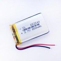 NEUE kleine kapazität lithium-ionen-batterien 3,7 v 800 mah 652540 für spielzeug Mp3 Kamera handy GPS PSP Vedio DIY Lautsprecher