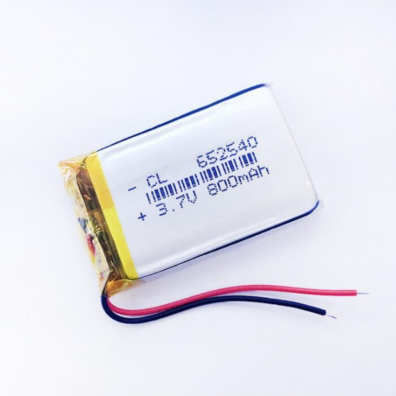 NEW small capacity rechargeable li-ion batteries 3.7v 800mah <font><b>652540</b></font> for toys Mp3 Camera mobile phone GPS PSP Vedio DIY Speaker image
