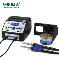 YIHUA 938D SMD Dual Soldering Iron Soldering Station LED Display SMD Rework Soldering Station
