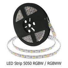 Tira CONDUZIDA 5050 RGBW À Prova D' Água IP67/IP65/IP20 DC12V Flexível do DIODO EMISSOR de Luz RGB + Branco/Branco Quente 60 LED/m 5 m/lote Iluminação Da Decoração