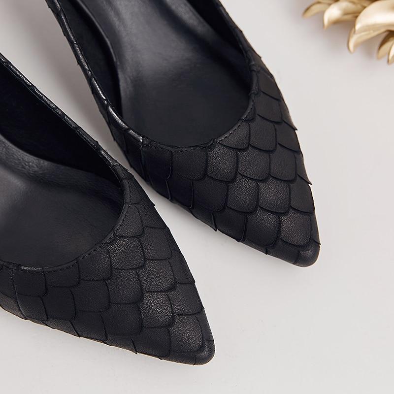Ol Soltera Vestido Serpentina De Tacones Superficial Mujeres Fiesta Zapatos Negro Las Aguja Cuero Alto Bombas rojo Boda Moda Vaca Tacón Señoras Mujer OaqxAwT