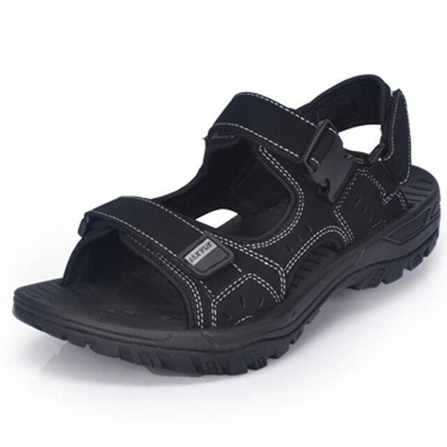 2016 Nuevas sandalias de Los Hombres de Verano Al Aire Libre Zapatos Casuales sandalias Planas Sandalias de Playa zapatillas para Hombres hommes tamaño 45 46 47