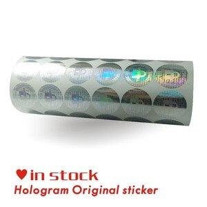 Image 3 - Custom hologram stickers/GARANTIE VERVALT INDIEN VERWIJDERD security Originele Zilveren laser Holografische label afdrukken 2*2 CM 2000 Stks/zak