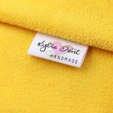 Пользовательские швейные этикетки, жетоны ручной работы, пользовательские детские бирки с именами, хлопковые Ленточные этикетки, лейбл с логотипом (MD0011)