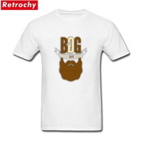 Unique Male Single Beard T Shirts Stretch Fit Eco Cotton Screen Printing Mens T Shirts O