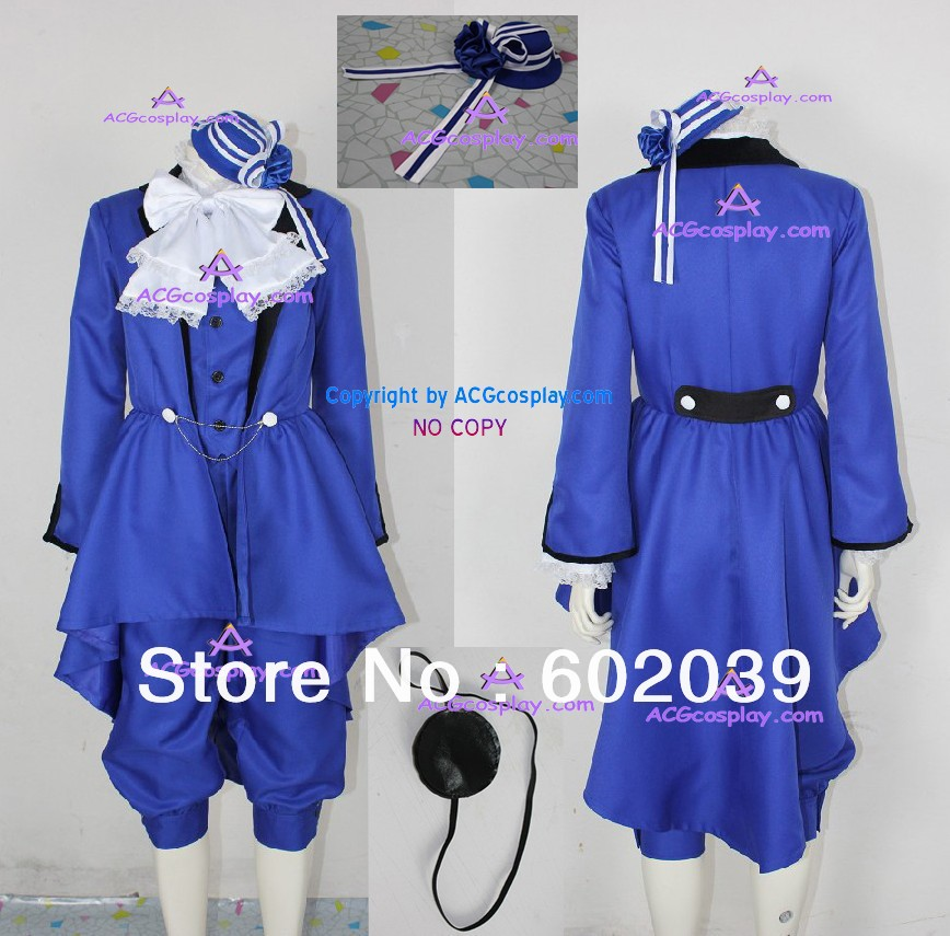 Black Butler Kuroshitsuji Ciel Phantomhive cosplay Costume incl. eyepatch and headwear ACGcosplay клавиатура smartbuy sbk 108u k black usb
